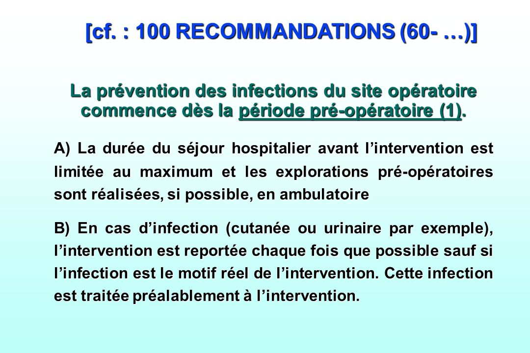 [cf. : 100 RECOMMANDATIONS (60- …)]
